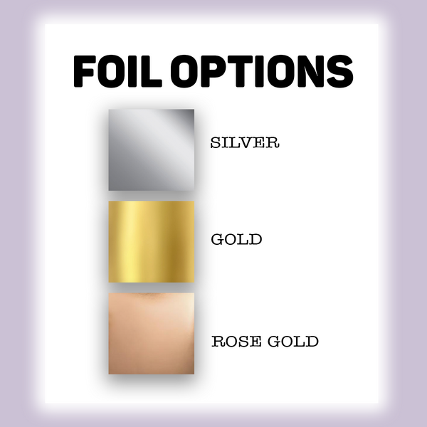 Solid Line Foil Full Box Overlays | Foil Collection