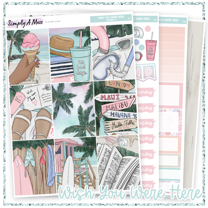 Wish You Were Here | Weekly Kit *NEW PAPER ONLY*