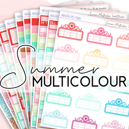 SUMMER Multicolour Collection | Multicolour Functional Stickers