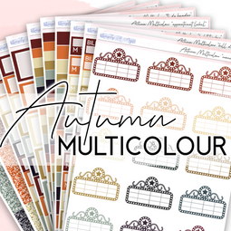AUTUMN Multicolour Collection | Multicolour Functional Stickers