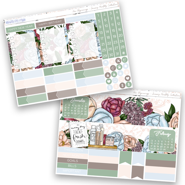 New Beginnings | January Monthly View Collection