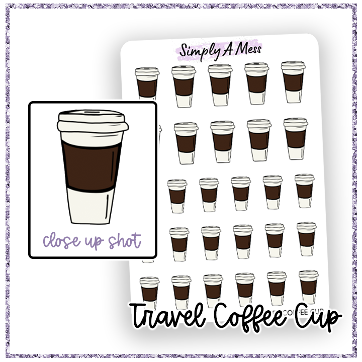 Travel Coffee Cup | Decorative Icons