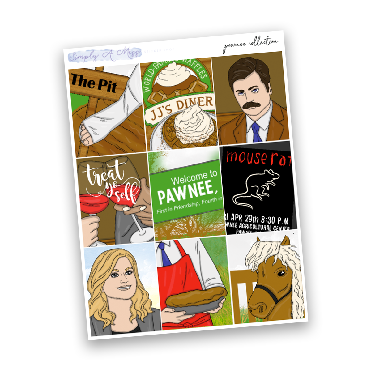 Pawnee Collection | Full Boxes *EXCLUSIVE ART*