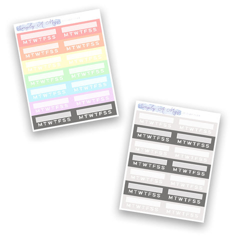 Habit Trackers | Rainbow Collection