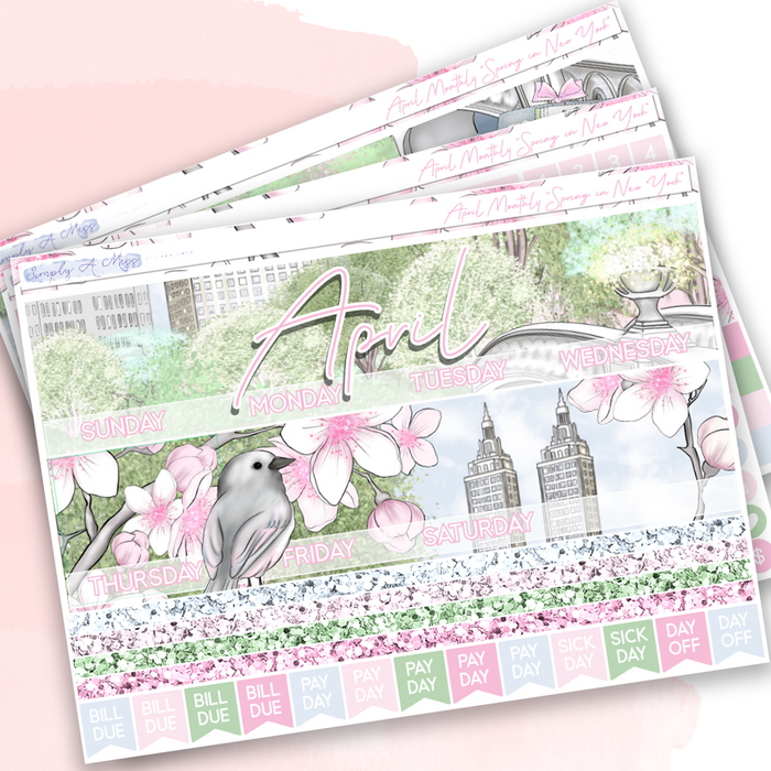 "April Monthly | ""Spring in New York"""