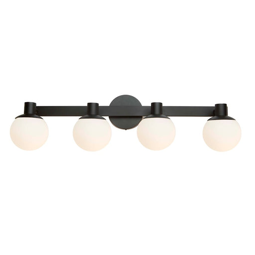 "Artcraft Tilbury 4 Light 9"" Wall Light, Semi Gloss Black - AC7094BK"