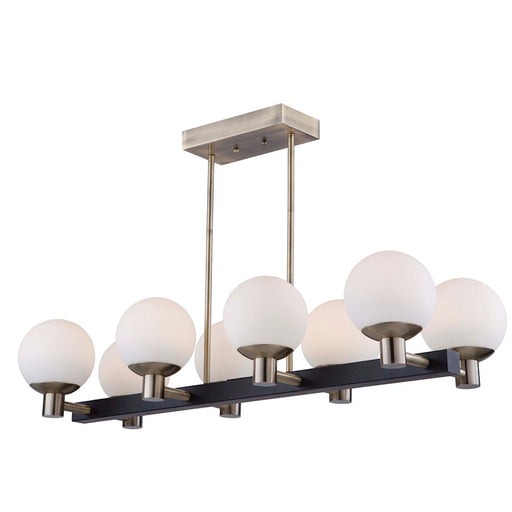 Artcraft Tilbury 8 Light Island Light, Matte Black & Brass - AC7098VB