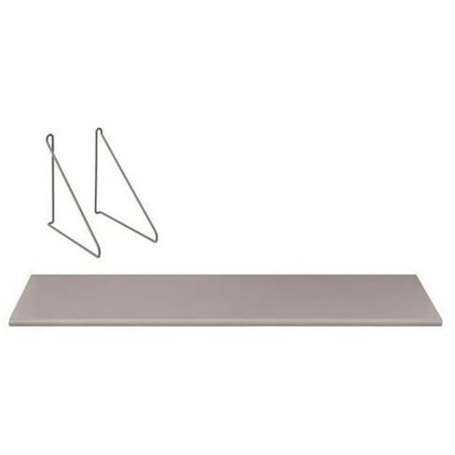 Blomus Panola Wall Shelf with Hanging Brackets Mourning Dove (Brwn/Grey) - 33318