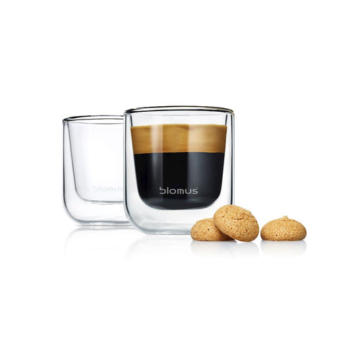 Blomus Nero Set 2 Insulated Espresso / Tea Glasses, Glass - 63652