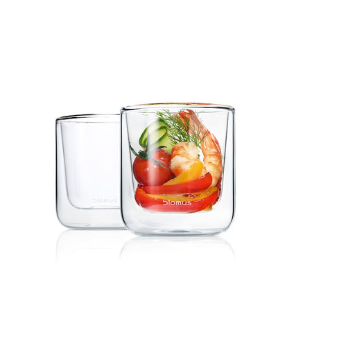 Blomus Nero Set 2 Insulated Coffee / Tea Glasses, Glass - 63653
