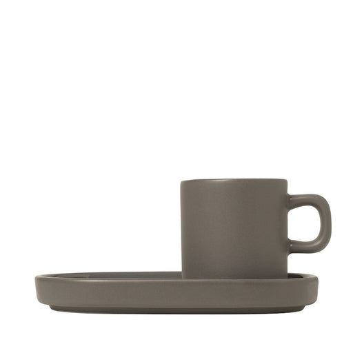 Blomus Mio Espresso Cups Pack of 2, Pewter - 63972