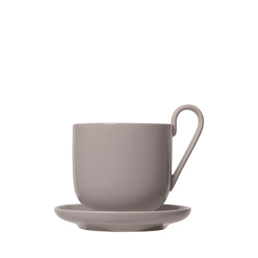 Blomus RO Pack of 2 Coffee Cups with Saucers, Mourning Dove - 64030