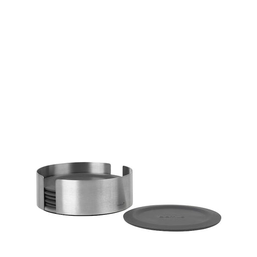 Blomus Coasters Round 6 Piece Magnet, Charcoal - 64062