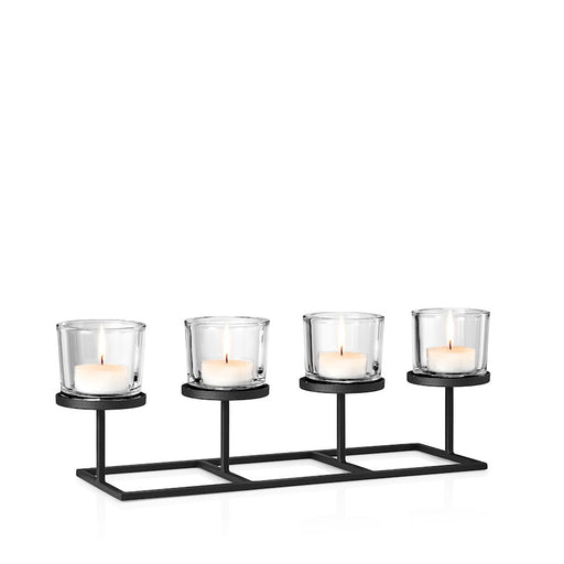 Blomus Nero Tealight Holder With 4 Rectangle - 65556