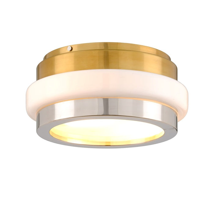 Corbett Lighting Beckenham 2 Light Flush Mount, Polished Brass/Nickel - 300-32
