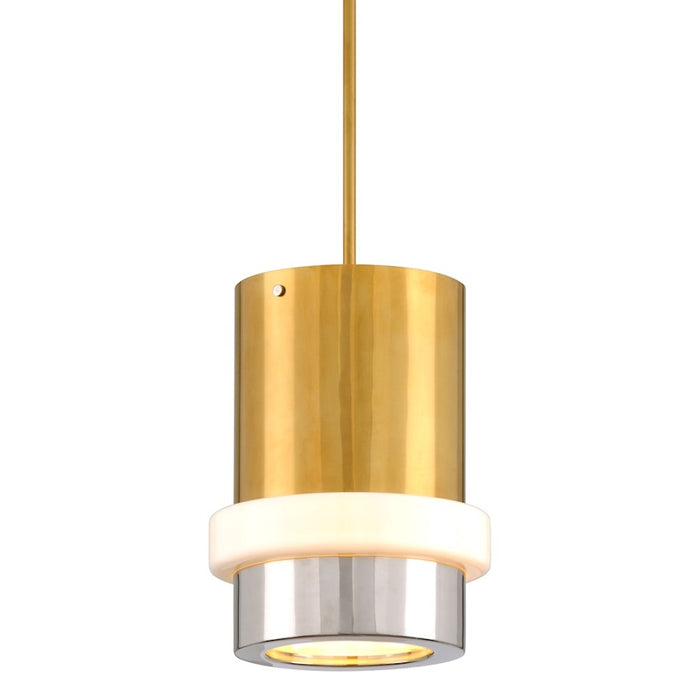 Corbett Lighting Beckenham 1 Light Chandelier, Polished Brass/Nickel - 300-42