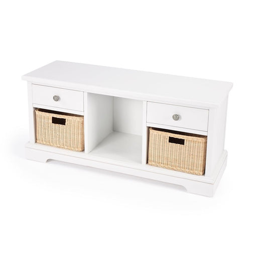 Butler Loft Bench with Storage, White - 5474304