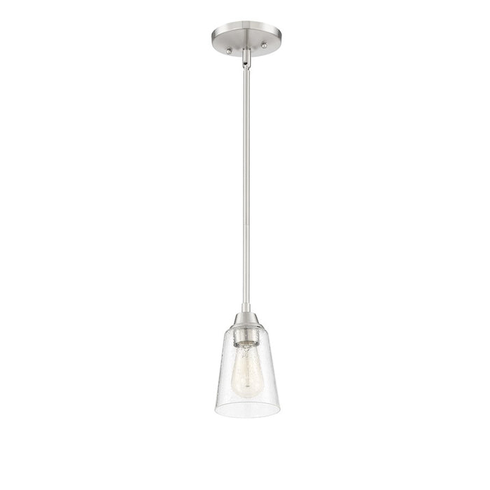 Craftmade Grace 1 Light Mini Pendant, Brushed Polished Nickel - 41991-BNK-CS