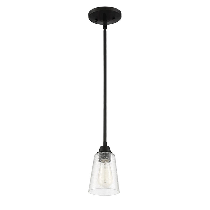 Craftmade Grace 1 Light Mini Pendant, Espresso - 41991-ESP-CS