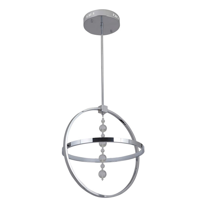 Craftmade Anello 1 Ring LED Pendant, Chrome