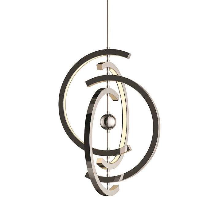 Craftmade Anello 4 Crescent LED Pendant, Chrome