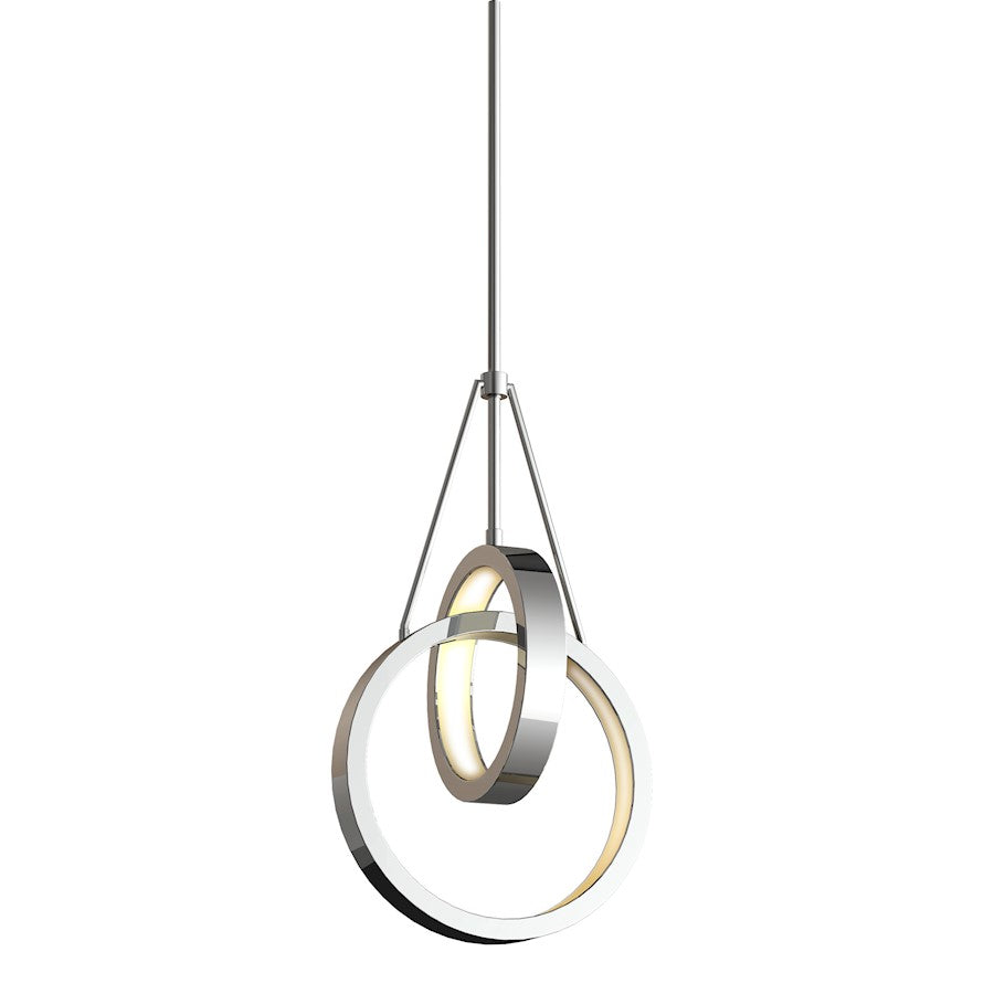 Craftmade Anello 2 Ring LED Pendant, Chrome