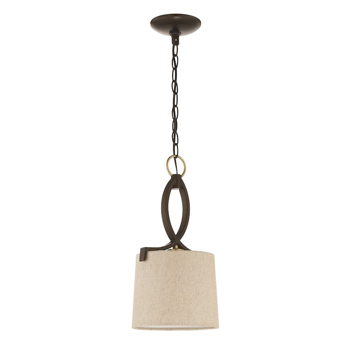 Craftmade Colonial 1 Light Mini Pendant, Antique Gold