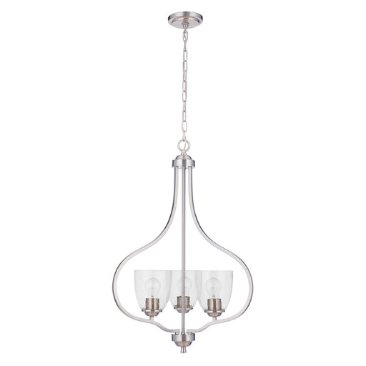 Craftmade Serene 3 Light Foyer, Brushed Polished Nickel - 49933-BNK