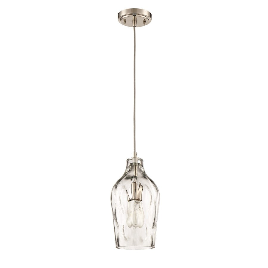 Craftmade 1 Light Mini Pendant, Brushed Polished Nickel