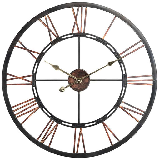 Cooper Classics Mallory Clock, Aged Copper with Black Highlights