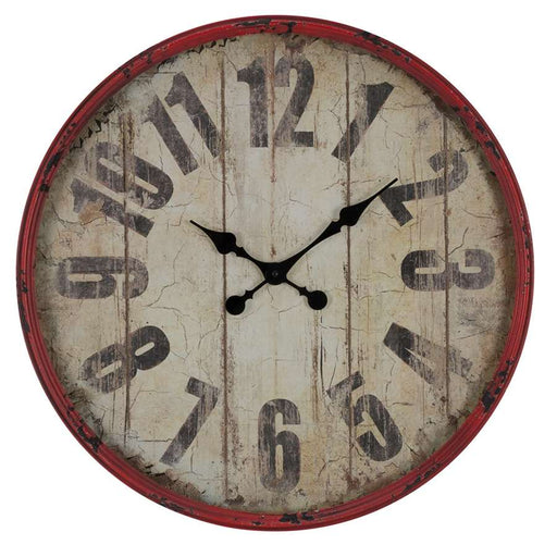Cooper Classics Oleshia Clock, Aged Red with Black Undertones