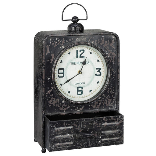 Cooper Classics Patton Table Clock, Metal