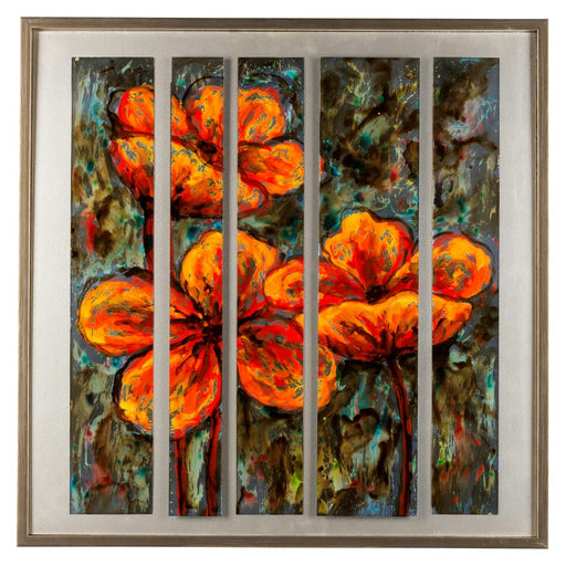 Cooper Classics Orange Flowers, Polyurethane