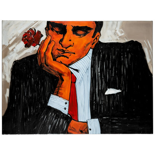 Cooper Classics Mad Man with Flower, Canvas