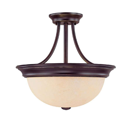 Capital Lighting 2 Light Semi-Flush Fixture, Mediterranean Bronze