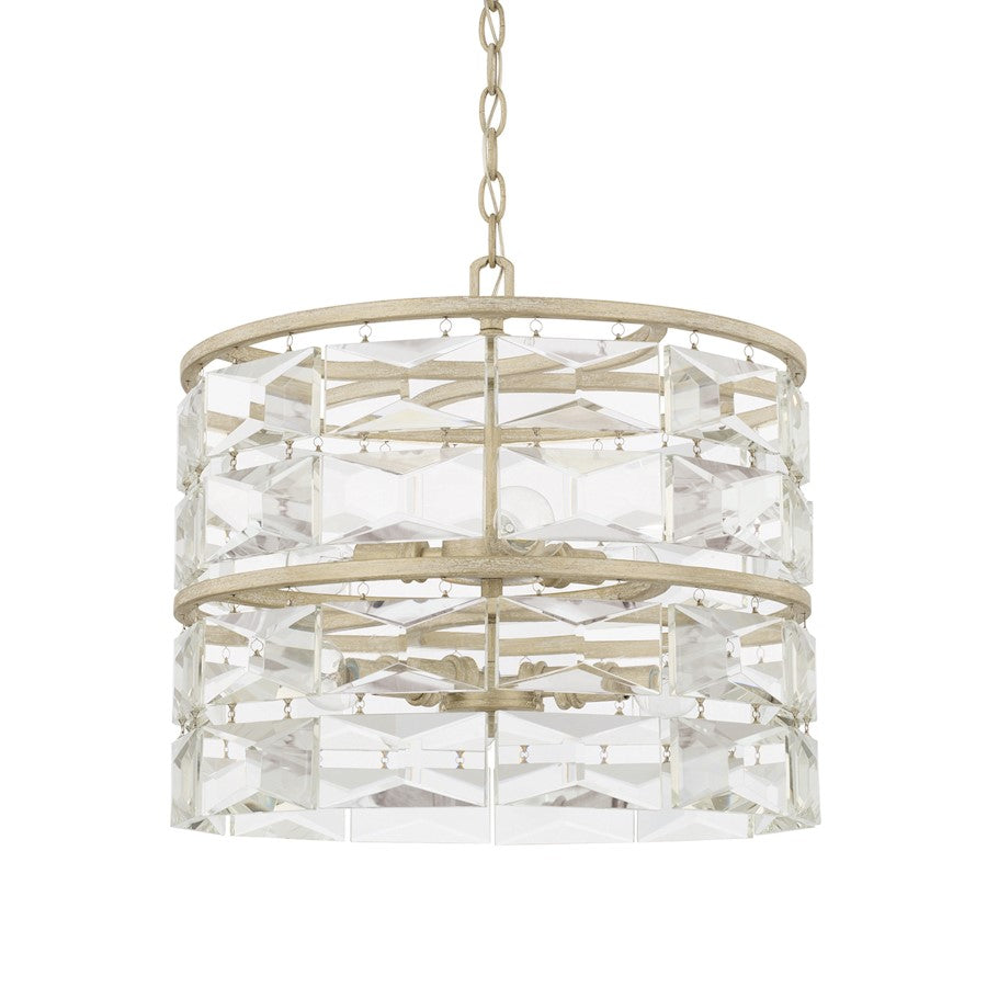 Capital Lighting Serena 6 Light Pendant, Winter White - 327861WW