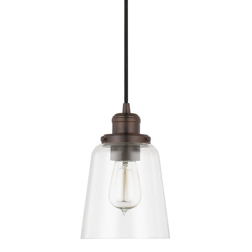 Capital Lighting Pendant 1 Light Mini-Pendant, Burnished Bronze