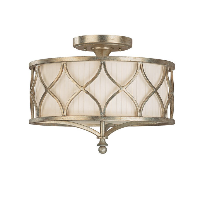 Capital Lighting Fifth Avenue 3 Lt Semi-Flush Fixture, Winter Gold