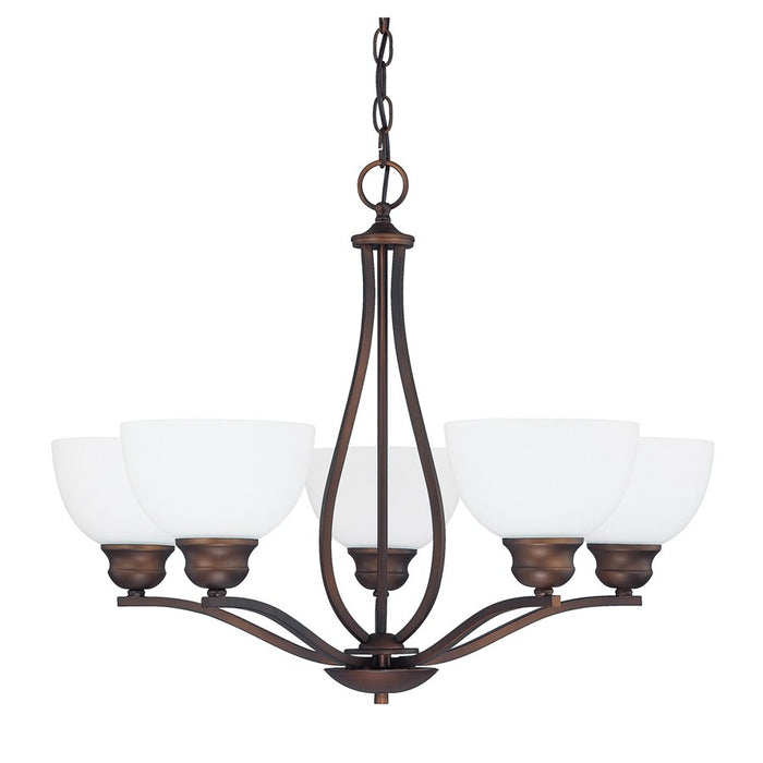Capital Lighting Stanton 5 Light Chandelier, Burnished Bronze