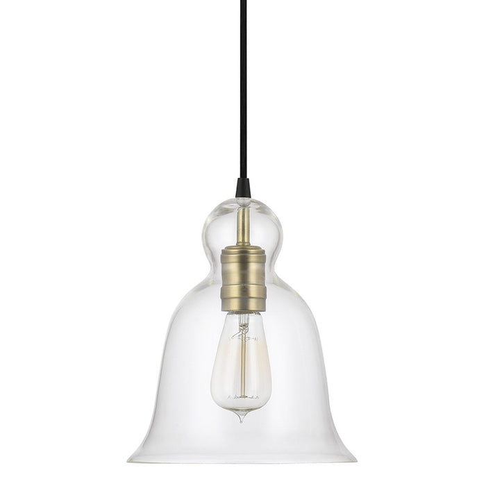 Capital Lighting Urban Mini-Pendant, Bell Glass