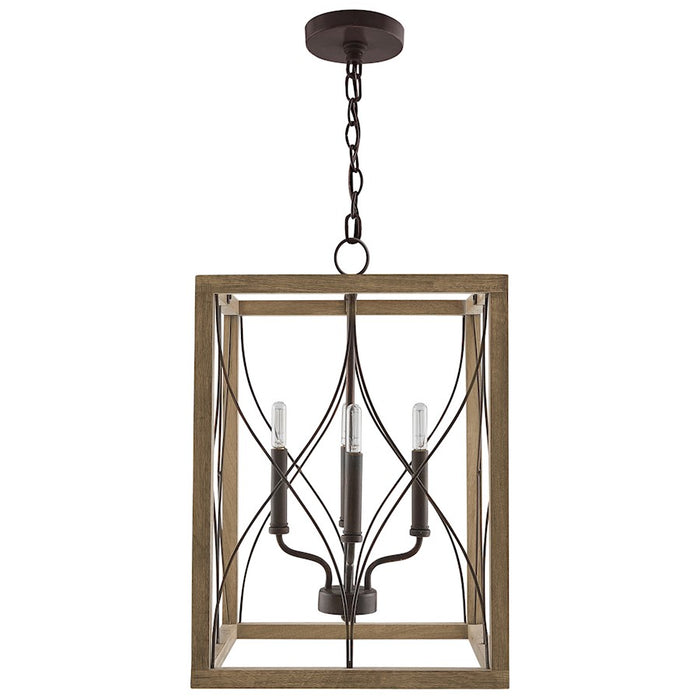Capital Lighting Tybee 4 Light Foyer, Nordic Grey - 529141NG