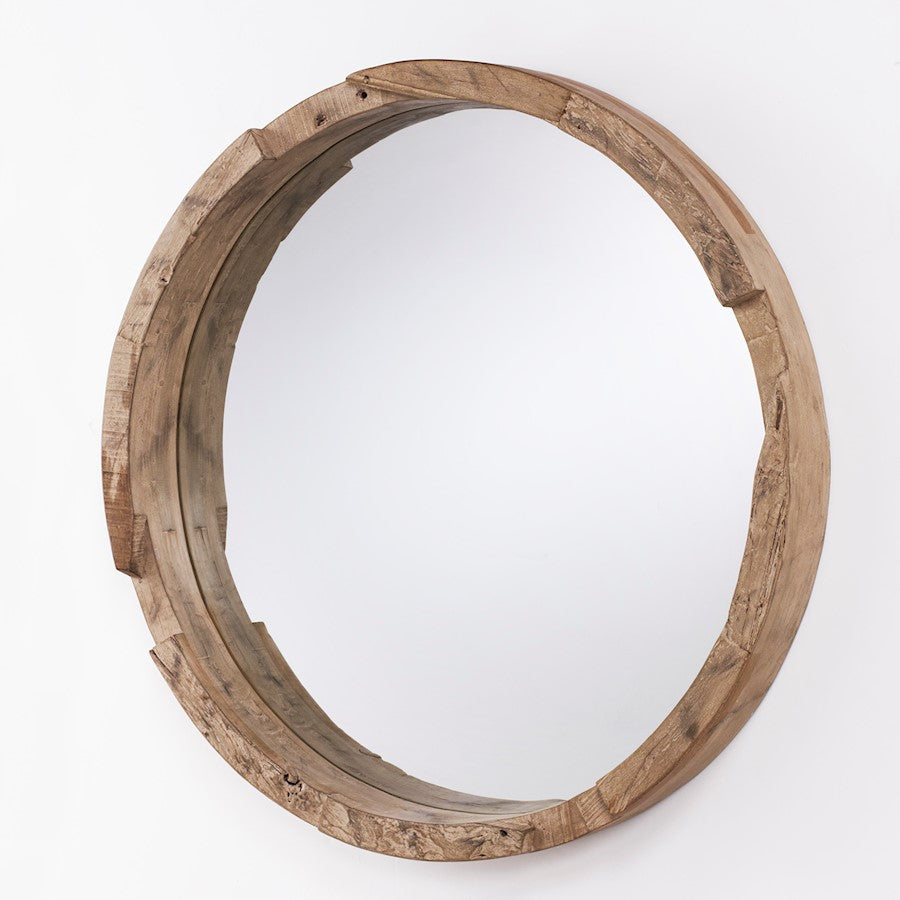 Capital Lighting Round Decorative Mirror, Natural Wood - 723501MM