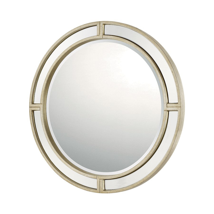 Capital Lighting Round Decorative Mirror, Winter Gold - 724201MM