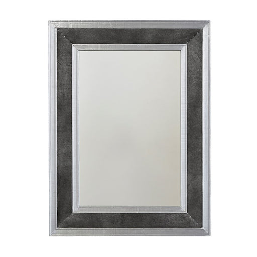 Capital Lighting Mirror Metal Frame Mirror, Galvanized Black/Aluminum