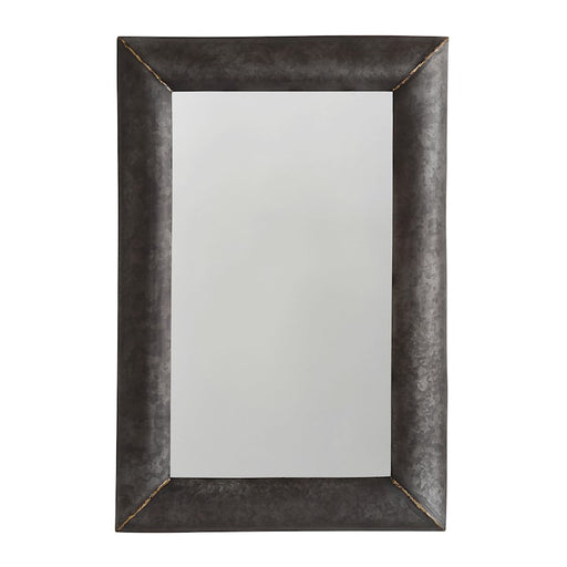 Capital Lighting Mirror Metal Frame Mirror, Galvanized Black/Brass