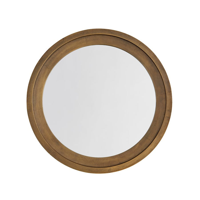 Capital Lighting Round Decorative Mirror, Oxidized Brass - 740704MM
