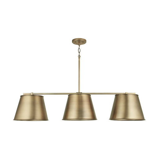 Capital Lighting 3-Light Island, Aged Brass - 837831AD