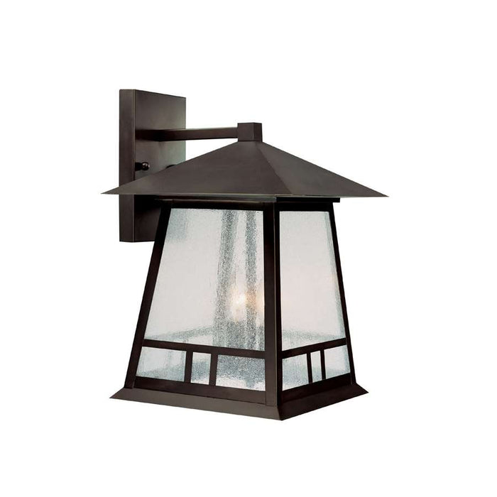 Capital Lighting Timber Ridge 2 Lt Outdoor Wall Lantern, Burn. Bronze