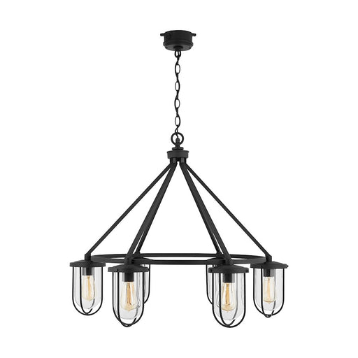 Capital Lighting Corbin 6-Light Outdoor Chandelier, Black
