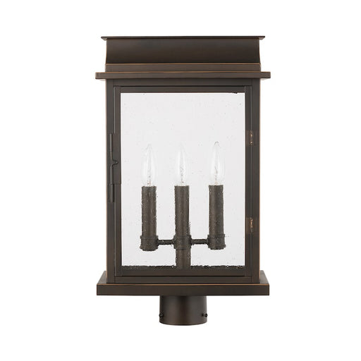 Capital Lighting Bolton 3-Light Outdoor Post Mount, Bronze/Antiqued - 936832OZ